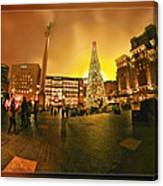 San Francisco Union Square Xmas Canvas Print