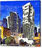 San Francisco Yerba Buena Garden Through The Eyes Of Van Gogh . 7d4262 Canvas Print