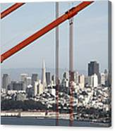 San Francisco Through The Cables Canvas Print