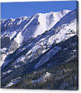 San Juan Mountains Covered In Snow Canvas Print