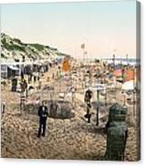 Sand Castles, C1895 Canvas Print