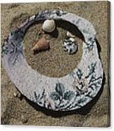 Sand On A Half Shell Canvas Print