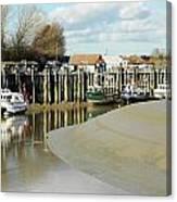 Sandbanks And Boats Canvas Print