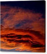 Sandia Heights Fiery Sunset Panoramic Canvas Print
