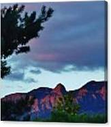 Sandia Mountains At Sunset Canvas Print