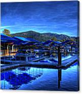 Sandpoint Marina And Power House 3 Canvas Print