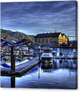Sandpoint Marina And Power House Canvas Print