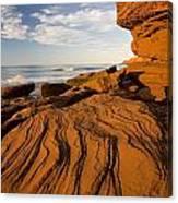 Sandstone Cliffs, Cavendish, Prince Canvas Print