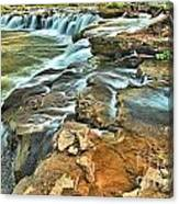 Sandstone Falls In The New River Canvas Print