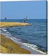 Sandy Point Fisherman Canvas Print