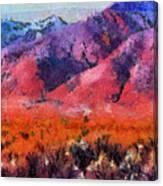Sangre De Cristos -- Cezanne Canvas Print
