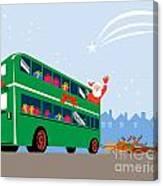 Santa Claus Double Decker Bus Canvas Print