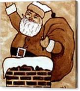 Santa Claus Gifts Original Coffee Painting Canvas Print