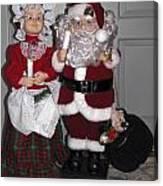 Santa Couple Canvas Print