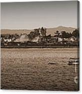 Santa Cruz Boardwalk Sepia Canvas Print