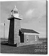 Santa Cruz Lighthouse - Black And White Canvas Print