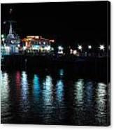 Santa Monica Pier After Dark Canvas Print