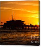 Santa Monica Pier Sunset Canvas Print