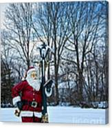 Santa's Checking His List Canvas Print