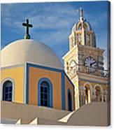 Santorini Church Canvas Print