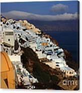 Santorini Cliff View Canvas Print