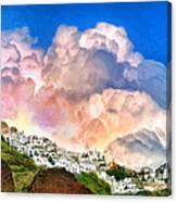 Santorini Sunrise Canvas Print