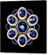Sapphire And Gold Brooch Canvas Print