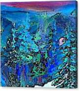 Sapphire Evening Canvas Print