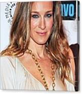 Sarah Jessica Parker At Arrivals Canvas Print
