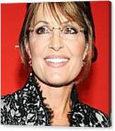 Sarah Palin At Arrivals For Time 100 Canvas Print