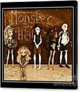 Sarah's Monster High Collection Sepia Canvas Print