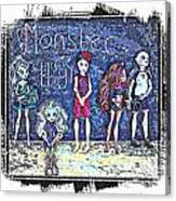 Sarah's Monster High Collection Sketch Canvas Print