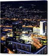 Sarajevo By Night Canvas Print