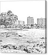 Sarasota Sketch Canvas Print