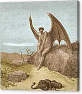 Satan Finding Serpent, By Dore Canvas Print