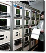 Satellite Control Room Canvas Print