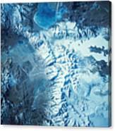 Satellite Image Of A Mountain Range Canvas Print
