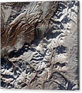 Satellite Image Of Russias Kizimen Canvas Print