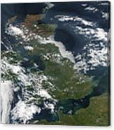 Satellite Image Of Smog Over The United Canvas Print