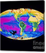 Satellite Image Of The Earths Biosphere Canvas Print