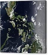 Satellite Image Of The Philippines Canvas Print