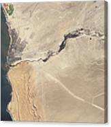 Satellite Image Of The Swakop River Canvas Print