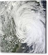 Satellite Image Of Tropical Storm Muifa Canvas Print