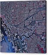 Satellite View Of Buffalo, New York Canvas Print