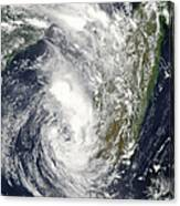 Satellite View Of Cyclone Giovanna Canvas Print