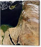 Satellite View Of The Middle East Canvas Print