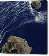 Satellite View Of The Prince Edward Canvas Print