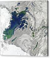 Satellite View Of The Ross Sea Canvas Print