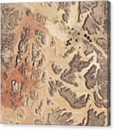 Satellite View Of Wadi Rum Canvas Print