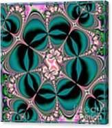 Satin Flowers And Butterflies Fractal 122 Canvas Print